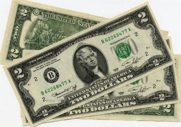 Легендарная Купюра 2 доллара Стильный подарок