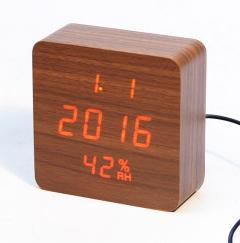 872S Часы Wood 10.5*10.5*4.5sm